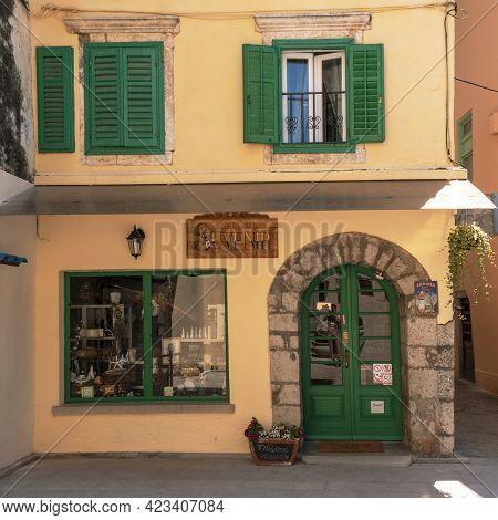 Lovran Croatia - 05 June 2021: Souvenir Shop In Lovran, Istria Region.