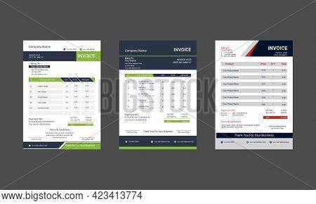 Professional Business Invoice Template Print Ready Corporate Business Invoice. Minimal Black Invoice