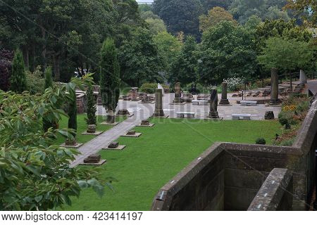 Chester, Great Britain - September 14, 2014: This Is A View Of Ancient Roman Artifacts Near The Arch