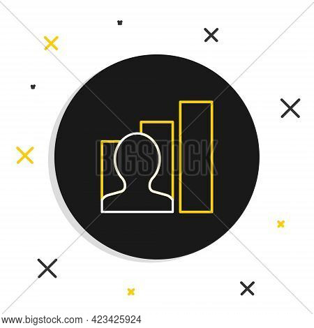 Line Productive Human Icon Isolated On White Background. Idea Work, Success, Productivity, Vision An