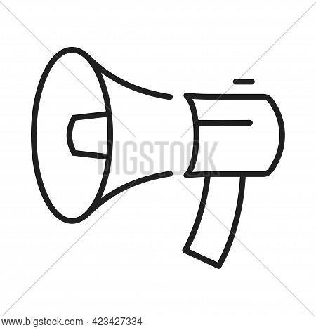Monochrome Loudspeaker Icon Vector Illustration Megaphone Loud Announce Advertising Or Attention