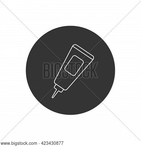 Glue Line Icon. Glue Design Concept From Collection. Simple Element Vector Illustration On White Bac