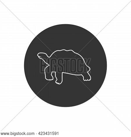 Turtle Line Icon, Vector Illustration In Flat