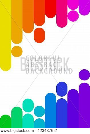 Colorful Striped Vertical Lines Rainbow Gradient. Abstract Background Pattern. Template Design For P