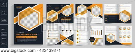 New Clean And Simple 12 Page Brochure Template Layout,minimal Business Brochure Template Design.yell