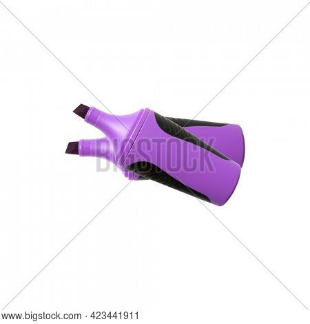 Purple highlighter isolated on white