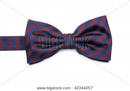 Bow tie isolated on the white background