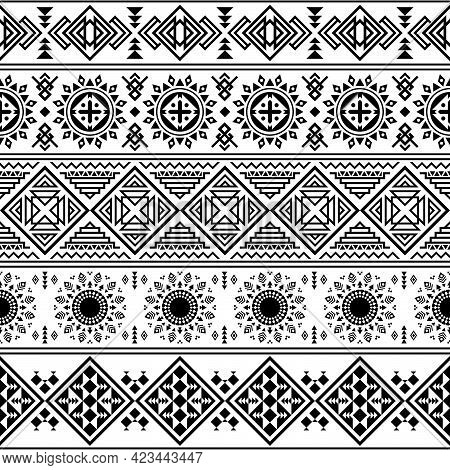 Geometric Pattern, Ethnic Pattern Or Tribal Pattern Of Ukraine Or North East. It\\\'s Also A Aztec P