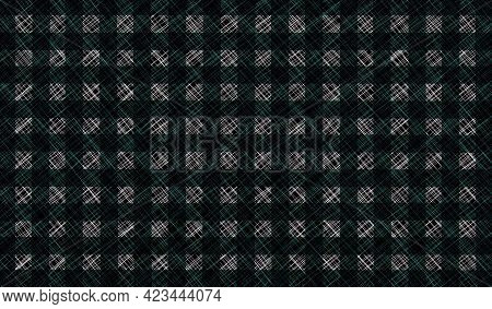 Black White Gray Vintage Checkered Background. Space For Graphic Design. Checkered Texture. Classic