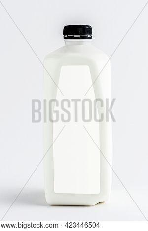 Pasteurized milk in plastic bottle