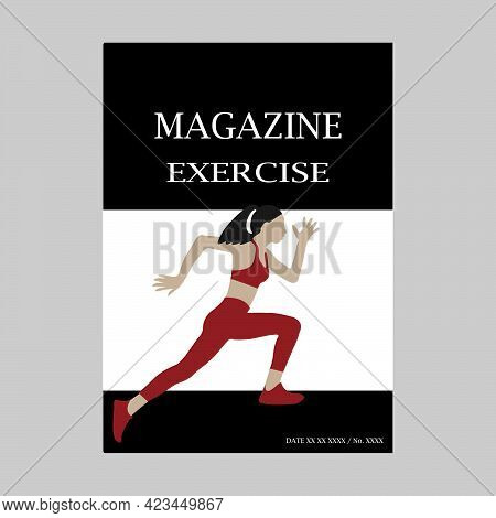 Running And Exercising Magazine. Creative Illustration For A Cover Magazine Design.