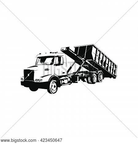 Illustration Vector Graphic Of Dumpster Truck Design