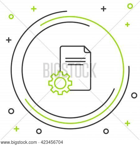 Line File Document Icon Isolated On White Background. Adjusting, Service, Setting, Maintenance, Repa