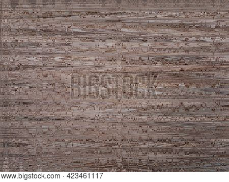 Old Textured Background. Pattern Of Blurred Brown Spots. Abstract Brown Texture With Cracks. Brown T