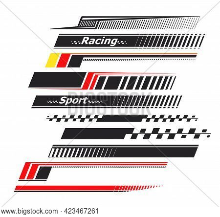 Sports Stripes, Car Stickers. Racing Decals For Tuning.