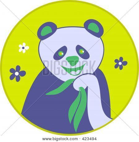 stylised panda bear drawing poster