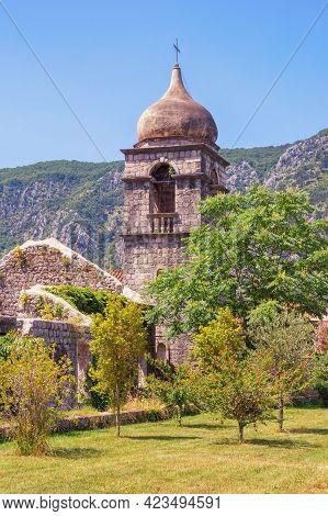 Religious Architecture. Montenegro, Old Town Of Kotor - Unesco World Heritage Site.  Belfry Of Saint