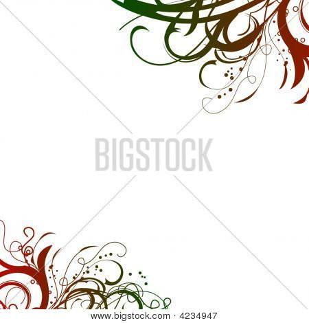 Red Green Swirls Background