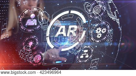 Ar, Augmented Reality Icon. Business, Technology, Internet And Network Concept.