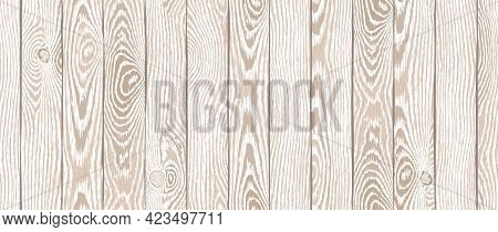 Wood Texture. Old Textured Wooden Boards With Scratches. Light Brown Timber Plank Background. Highly