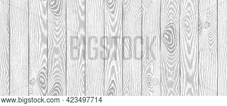 Wood Texture. Old Textured Wooden Boards With Scratches. Light Gray Timber Plank Background. Highly