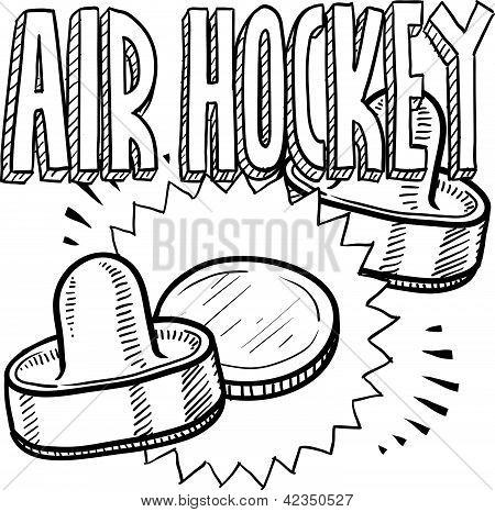 Air hockey sketch