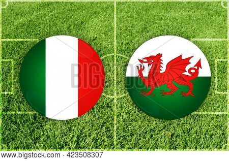 Concept for Football match Italy vs Wales