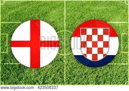 Concept for Football match England vs Croatia