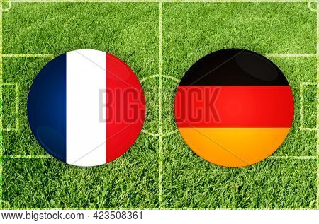Concept for Football match France vs Germany