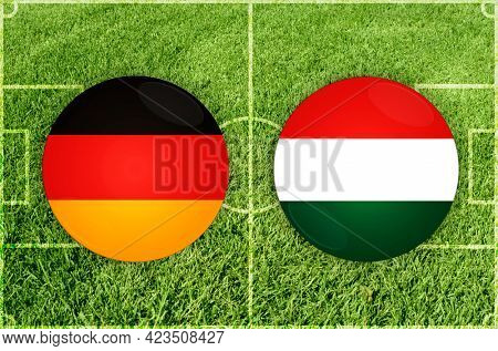 Concept for Football match Germany vs Hungary