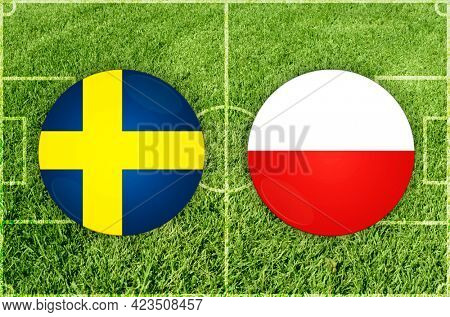 Concept for Football match Sweden vs Poland