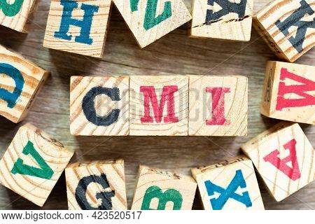 Alphabet Letter Block In Word Cmi (abbreviation Of Cost Management Index, Co-managed Inventory,custo