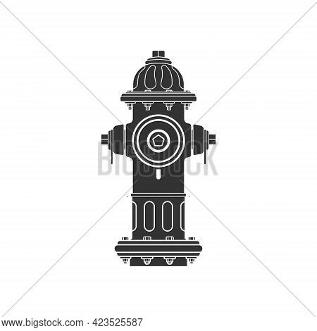 Realistic Fire Hydrant Icon. Equipment For Water Supply During Fire Fighting