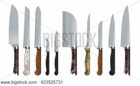 Realistic Knives. 3d Food Carving Tools. Stainless Steel Sharp Blades. Kitchen Cutters. Metal Cookwa