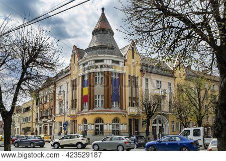 Targu Mures, Mures, Romania - April 24, 2021: Alpha Bank Headquarters On April 24, 2021 In  Targu-mu