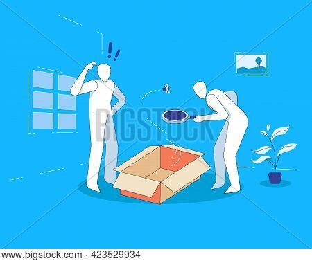 No Results Found Illustration, Nothing In The Box Concept
