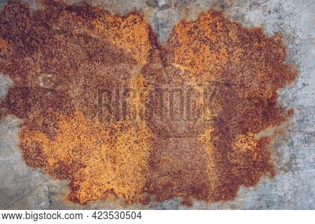 Old Grunge Zinc And Rusty Background Texture