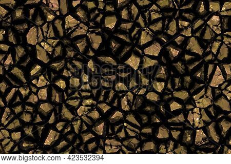 Beautiful Rough Stonework Computer Graphics Backdrop Illustration