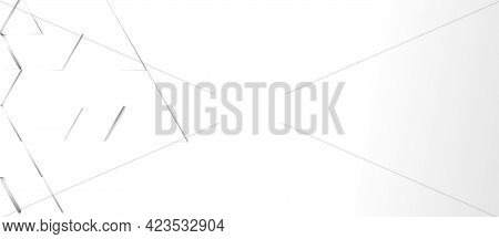 Abstract Modern White Triangle Background With Space For Text, 3d Rendering