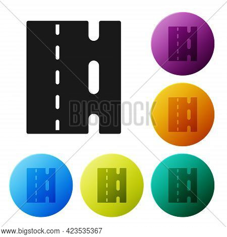 Black Special Bicycle Ride On The Bicycle Lane Icon Isolated On White Background. Set Icons In Color