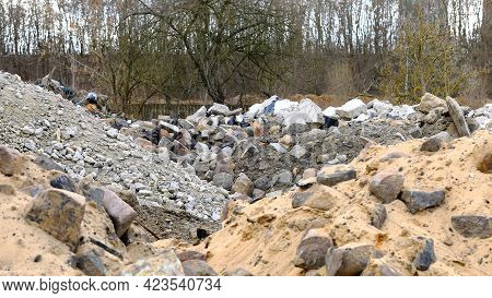 Rubble In The Old Factory In The Suburbs