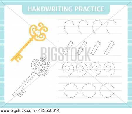 Kids Handwriting Practice Game. Educational Children Handwriting Practical Cards, Children Learning