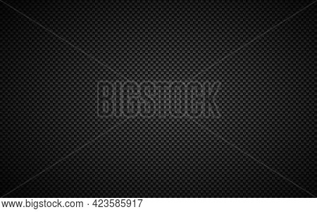 Black Abstract Carbon Fibre Background. Modern Metallic Look. The Look Of Stainless Steel. Vector Il