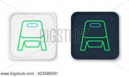 Line Baby Potty Icon Isolated On White Background. Chamber Pot. Colorful Outline Concept. Vector