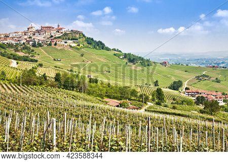 La Morra. Traditional Village Close To Barolo And Alba, In Piedmont Region, Italy.