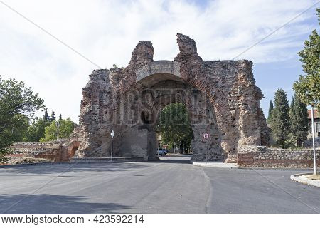 The South Gate Of Roman Fortifications In Hisarya, Bulgaria