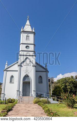 Lutheran Church With Tower Walk Path