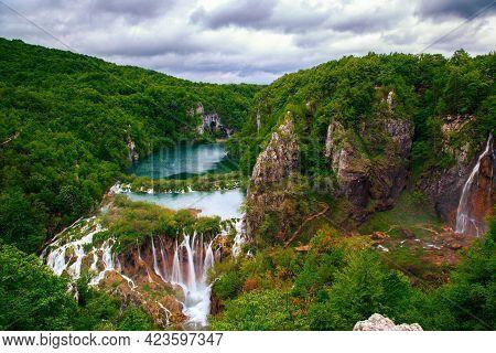 Waterfalls In Plitvice National Park, Croatia Image