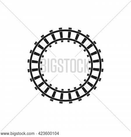 Rail Way Track Vector Illustration Design