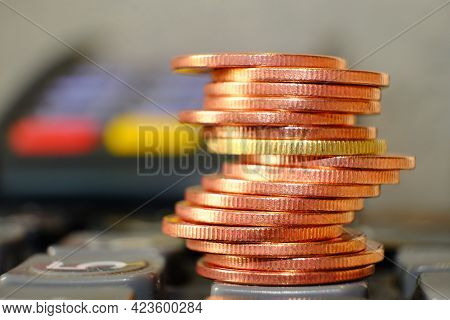 Coins On Table Background And Saving Money And Business Growth Concept, Finance And Investment Conce